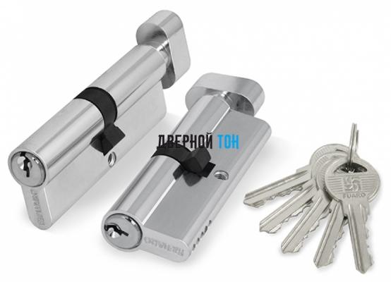 Цилиндр для противопожарных дверей сечение 45х45 ключ/поворотник