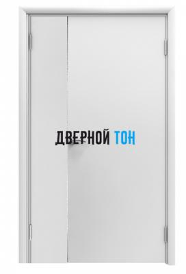 Пластиковая гладкая белая дверь Aquadoor полуторная