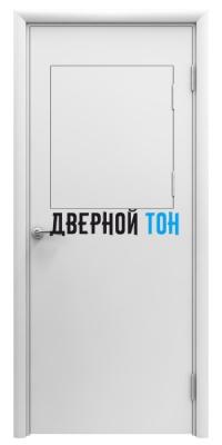 Пластиковая гладкая белая дверь Aquadoor с выпадающим окном