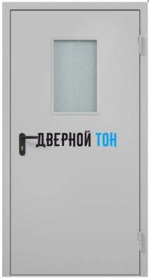Металлическая противопожарная остекленная дверь Ei 60 RAL 7035