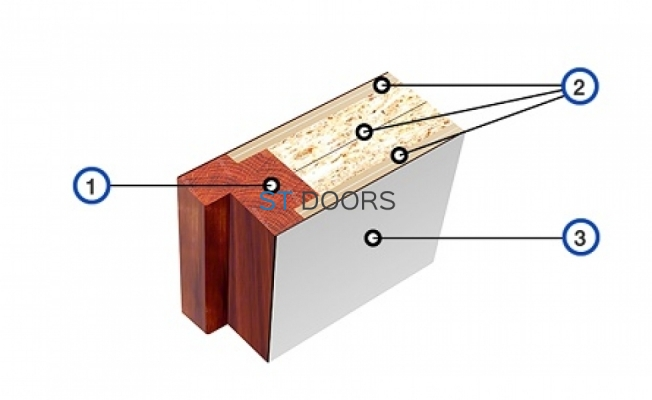 Разрез рентгенозащитной двери