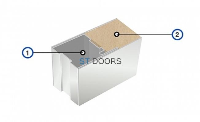 Разрез двери из нержавеющей стали
