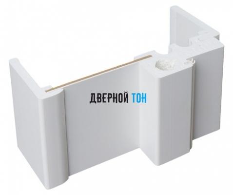 Добор для F-образного наличника пластиковый вспененный ПВХ моноколор 150 мм метод установки