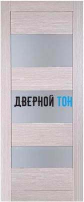 Царговая межкомнатная дверь мод. 3 лиственница кремовая