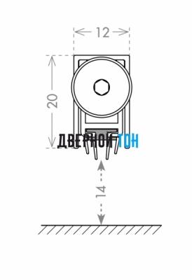 Автоматический порог Armadillo ASTD чертеж