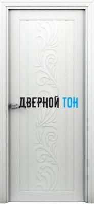 Гладкая ламинированная царговая дверь ФЛОРА жасмин
