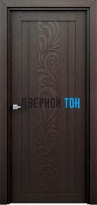 Гладкая ламинированная царговая дверь ФЛОРА венге