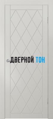 Гладкая окрашенная дверь с фрезеровкой Эмаль 5