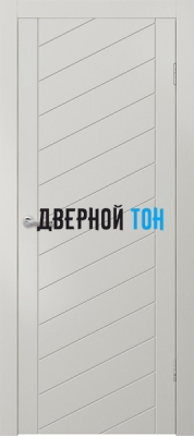 Гладкая окрашенная дверь с фрезеровкой Эмаль 6