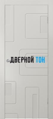 Гладкая окрашенная дверь с фрезеровкой Эмаль 9