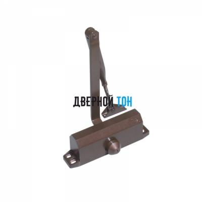 Дверной доводчик DL 77 brown с тягой