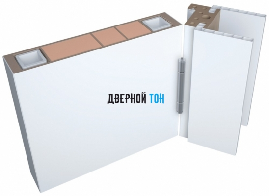 Мини образец пластиковой двери Aquadoor в белом цвете