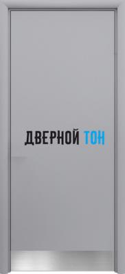 Маятниковая гладкая композитная серая дверь Aquadoor с отбойной пластиной