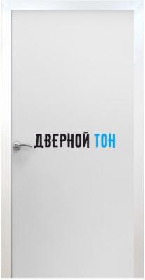Пластиковая гладкая белая дверь Aquadoor с металлической коробкой