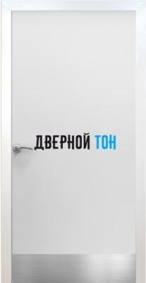 Пластиковая гладкая белая дверь Aquadoor с металлической коробкой с отбойной пластиной