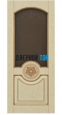 Филенчатая шпонированная дверь QP-2 ДО Эмаль слоновая кость/золото