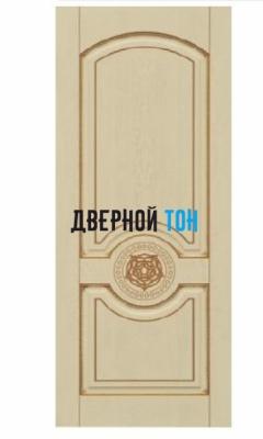 Филенчатая шпонированная дверь QP-2 ДГ Эмаль слоновая кость/золото