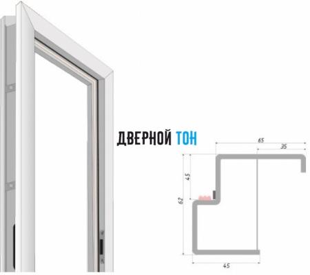 Металлическая коробка для межкомнатной двери