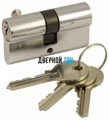 Цилиндр сечение 45х45 ключ/поворотник хром