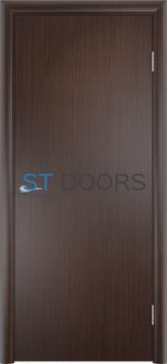 Гладкая ламинированная дверь с четвертью Венге