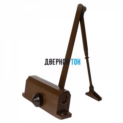 Дверной доводчик home 50 кг коричневый
