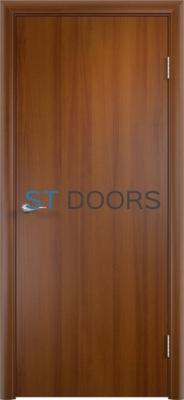 Гладкая ламинированная дверь с четвертью Лесной орех