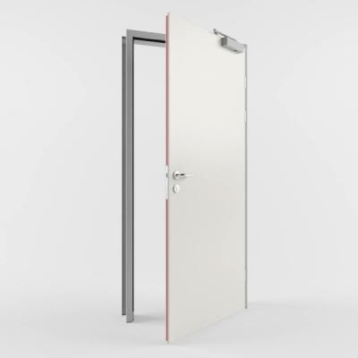 Комбинированная противопожарная дверь с пределом огнестойкости EI60 (Тип PP60) одностворчатая