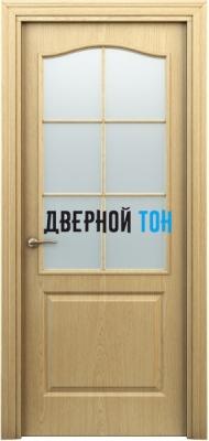 Филенчатая дверь Палитра классик ДО светлый дуб