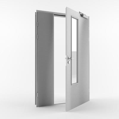 Металлическая входная противопожарная дверь с пределом огнестойкости EI30 (Тип STM-PP30) полуторная
