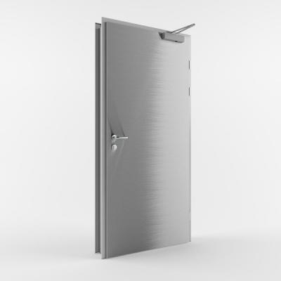 Металлическая противопожарная дверь с пределом огнестойкости EI30 (Тип ST-PP30) одностворчатая