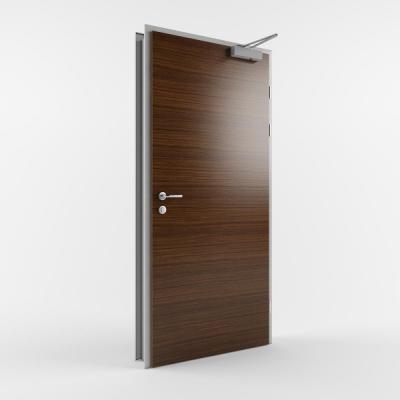 Комбинированная противопожарная дверь с пределом огнестойкости EI30 (Тип PP30) одностворчатая