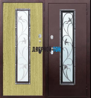 Входная металлическая дверь ПЛЮЩ (металл-МДФ)