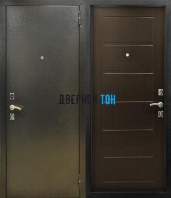 Входная металлическая дверь СИТИ (металл-МДФ) Венге