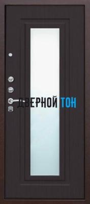 Входная металлическая дверь ЦАРСКОЕ ЗЕРКАЛО (металл-МДФ) Венге