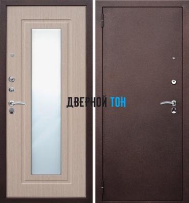 Входная металлическая дверь ЦАРСКОЕ ЗЕРКАЛО (металл-МДФ) Беленый дуб