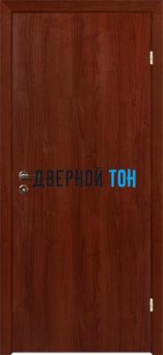 Гладкая ламинированная финская дверь с четвертью Орех
