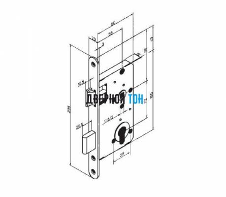 Механизм замка Abloy 4292 чертеж