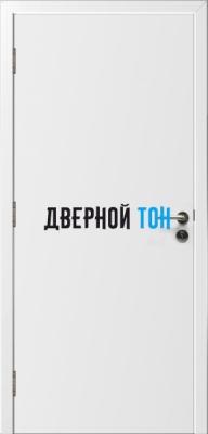 Гладкая пластиковая белая противопожарная дверь Ei30