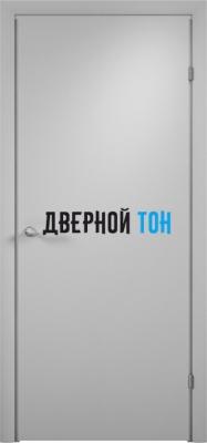 Гладкая ламинированная дверь с четвертью серая