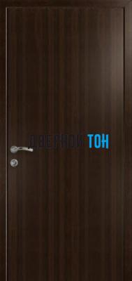 Гладкая дверь Капель венге (телескопическая коробка)