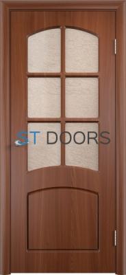 Филенчатая ламинированная дверь Кэрол ДО Итальянский орех