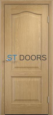 Филенчатая ламинированная дверь Классика ДГ Дуб