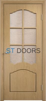 Филенчатая ламинированная дверь Лидия ДО Дуб