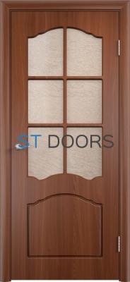Филенчатая ламинированная дверь Лидия ДО Итальянский орех