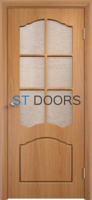 Филенчатая ламинированная дверь Лидия ДО Миланский орех