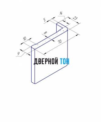 Наличник телескопический пластиковый вспененный ПВХ моноколор - чертеж