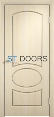 Филенчатая ламинированная дверь Неаполь ДГ Беленый дуб