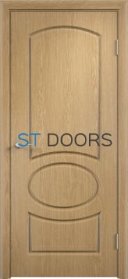 Филенчатая ламинированная дверь Неаполь ДГ Дуб