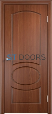 Филенчатая ламинированная дверь Неаполь ДГ Итальянский орех