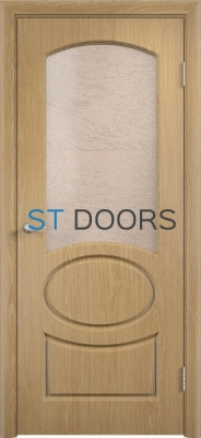 Филенчатая ламинированная дверь Неаполь ДО Дуб